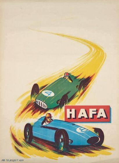 HAFA Affiche publicitaire représentant deux...