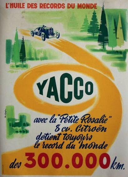 HUILES YACCO Affiche originale entoilée D'après...