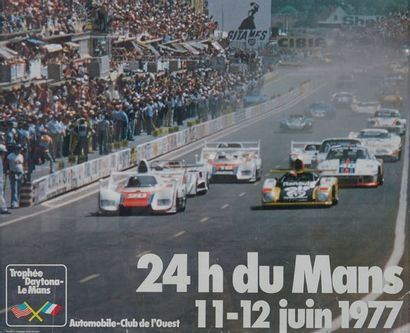24 HEURES DU MANS 1977 Affiche originale...