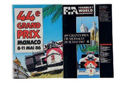 GRANX PRIX DE MONACO Lot de 2 programmes...