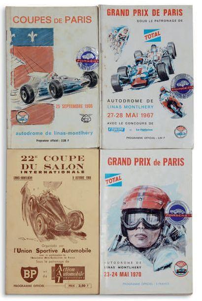 GRAND PRIX et COUPES DE PARIS Lot de 4 programes...