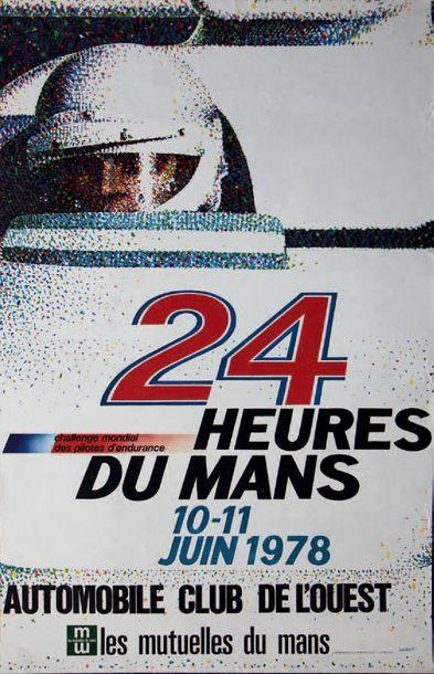24 HEURES DU MANS 1978 Affiche originale...