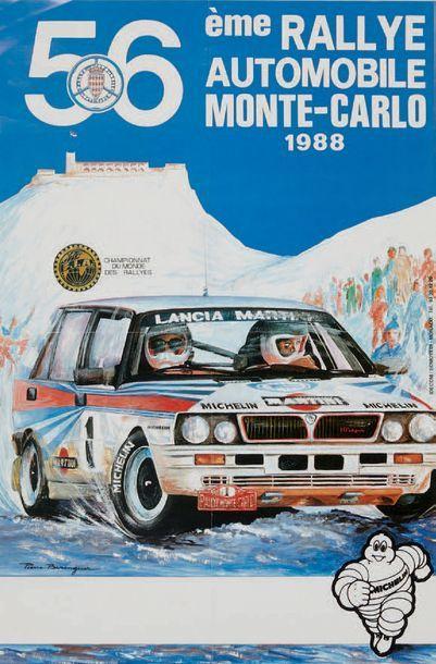 RALLYE MONTE CARLO 1988 Affiche originale...
