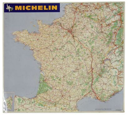 MICHELIN Plaque en tôle presentant le réseau...
