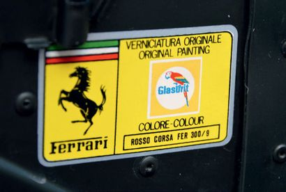 1990 - FERRARI TESTAROSSA BERLINETTE Carte Grise italienne/Italian registration papers...