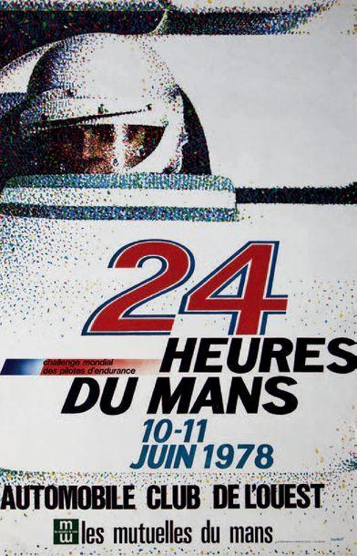 24 HEURES DU MANS 1978 Affiche originale D'après un dessin de Lardrot Imp. commerciale...