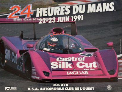24 HEURES DU MANS Lot de 11 affiches originales des éditions 1990, 1991, 1992, 1993,...