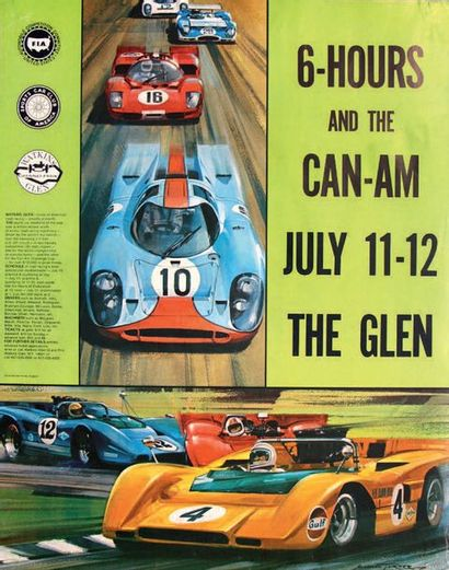 6 HOURS AND CAN-AM - THE GLEN 1970 Affiche...