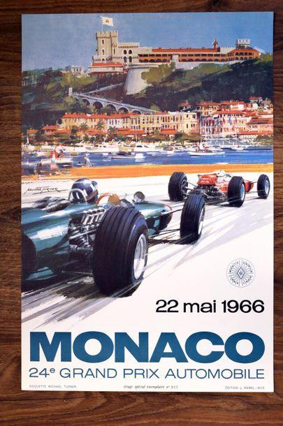 GRAND PRIX DE MONACO 1966 Affiche originale...