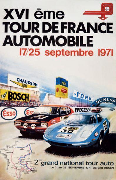TOUR DE FRANCE AUTO 1971 Affiche originale...
