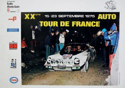 TOUR DE FRANCE AUTO 1975 Affiche originale Imp. Ford Rueil - Malmaison Très bon...