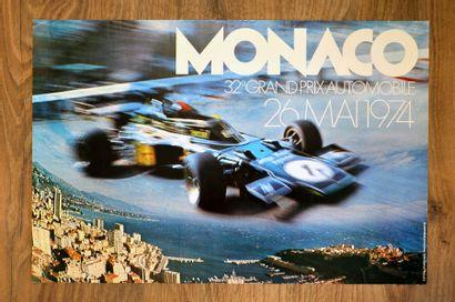 GRAND PRIX DE MONACO 1974 Affiche originale Editions J. Ramel à Nice D'après une...
