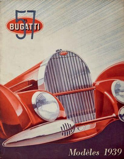 BUGATTI Dépliant 2 volets présentant la gamme Bugatti 57 en 1939 Langue française...