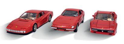 Bburago Lot de 7 Ferrari 1/18ème. Bon état