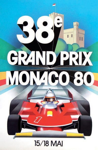GRAND PRIX DE MONACO 1980 Affiche originale Editions Agence Internationale de Publicité...