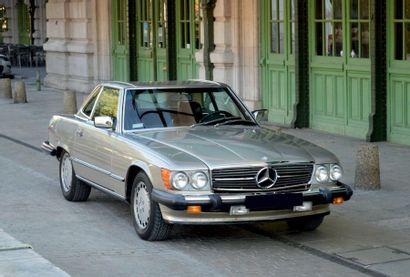 1986 - MERCEDES 560 SL Carte grise française collection/French papers as historic...