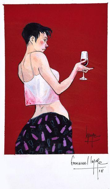 Emmanuel LEPAGE Dessin original Aquarelle, encre et gouache 20 x 15 cm