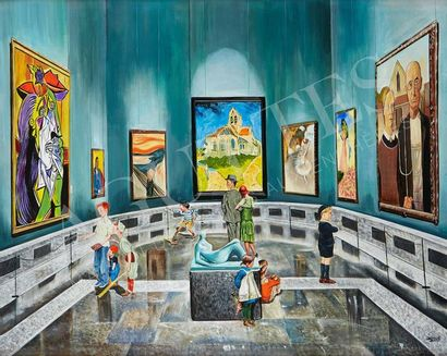 GULLY (NÉ EN 1977) Children meet Picasso, Gauguin, Munch, Van Gogh, Degas, Monet,...