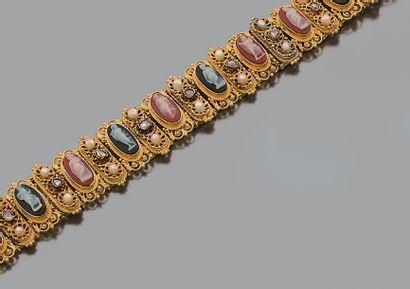 Bracelet articulé en or jaune 14K (585) à...