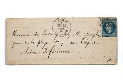 + 22 SEPTEMBRE 1870 20c lauré obl. Étoile...