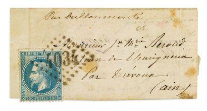 + 1ER OCTOBRE 1870 20c lauré obl. GC 4034...