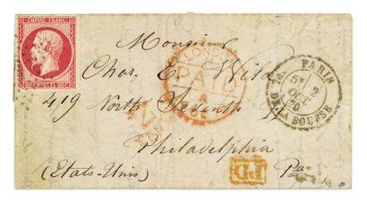 + ETATS-UNIS - 2 OCTOBRE 1870 80c Empire...