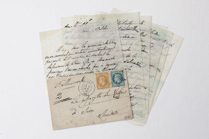 + SUISSE - 4 OCTOBRE 1870 10c et 20c lauré...