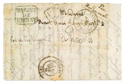 4 OCTOBRE 1870 lettre en franchise avec griffe...