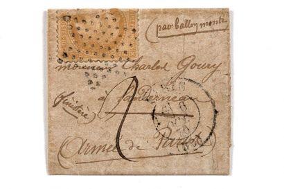 + 6 OCTOBRE 1870 10c lauré (déchiré) obl....