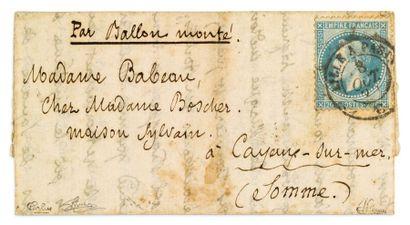 + 8 OCTOBRE 1870 20c lauré obl. càd ambulant...