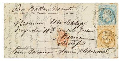 + SUISSE - 13 OCTOBRE 1870 10c et 20c laurés...