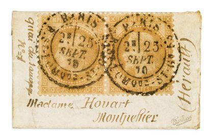 25 SEPTEMBRE 1870 Paire du 10c lauré obl....