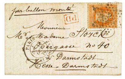 + ALLEMAGNE - 13 OCTOBRE 1870 40c lauré obl....