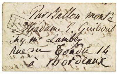16 OCTOBRE 1870 Lettre petit format pour...