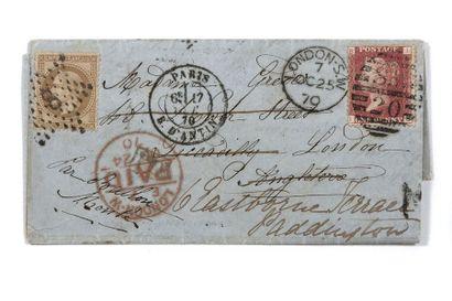 + GRANDE-BRETAGNE - 17 OCTOBRE 1870 30c lauré...