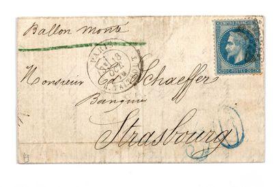 + 18 OCTOBRE 1870 20c lauré obl. Étoile 22...