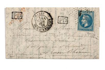 + ALLEMAGNE - 21 OCTOBRE 1870 20c lauré obl....