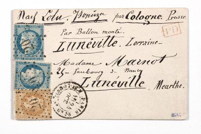 + 24 OCTOBRE 1870 10c lauré et 20c Siège...