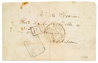 26 SEPTEMBRE 1870 Papillon avec griffe P.P....