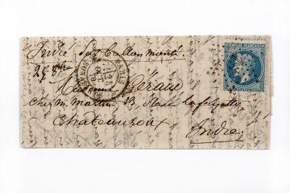 24 OCTOBRE 1870 20c Siège obl. Étoile 15...