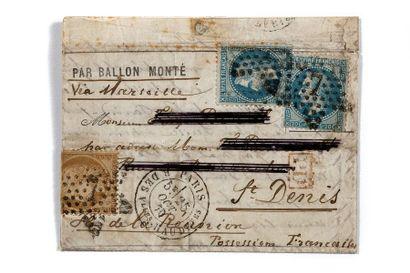 ILE DE LA REUNION - 25 OCTOBRE 1870 20c lauré...