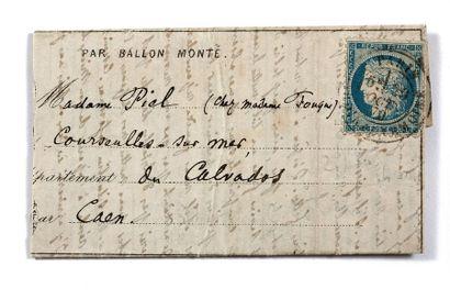 + 29 OCTOBRE 1870 20c Siège obl. càd Rue...