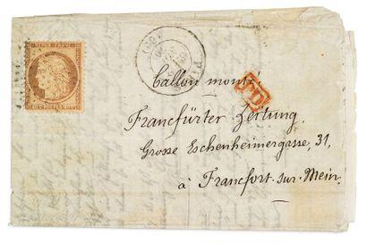 + ALLEMAGNE - 2 NOVEMBRE 1870 40c Siège obl....