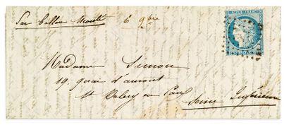 2 NOVEMBRE 1870 20c Siège obl. los. échoppé,...
