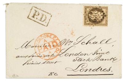 + GRANDE BRETAGNE - 29 SEPTEMBRE 1870 30c...