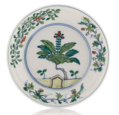 CHINE début XXe siècle Petite coupe en porcelaine et émaux de style Doucai, à décor...