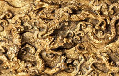CHINE FIN DE LA DYNASTIE MING, XVIE-XVIIE SIÈCLE Exceptionnel brûle-parfum en bronze...