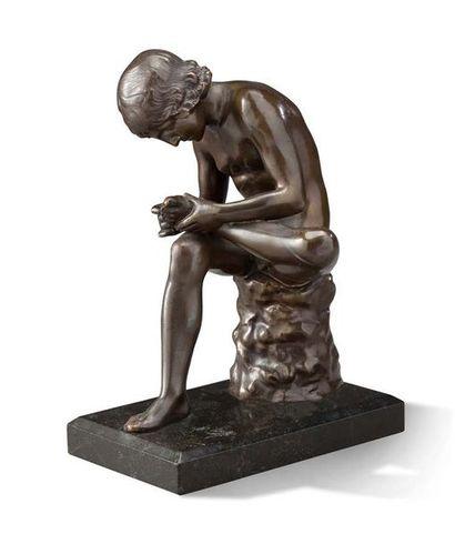 SCULPTURE en bronze patiné représentant le...