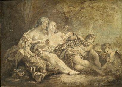 ÉCOLE FRANÇAISE DE LA FIN DU XVIIIE SIÈCLE, D'APRÈS FRANÇOIS BOUCHER