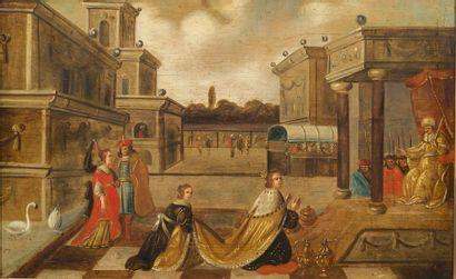 École FLAMANDE du XVIIe siècle, entourage de Frans FRANCKEN